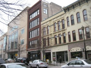 """One of the allegedly """"blighted"""" properties that the Land Bank will receive in a sweetheart deal - 49 Monroe Center NW, Ste 1B"""